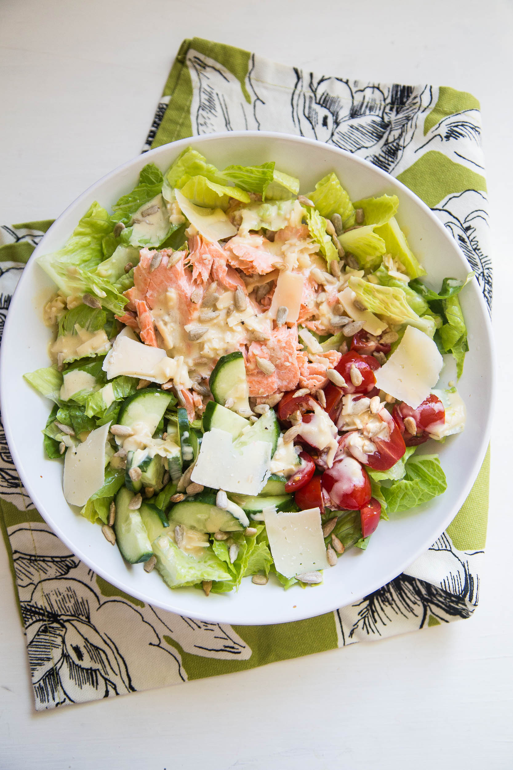 Salmon Caesar Salad  Grilled Salmon Caesar Salad Perry s Plate