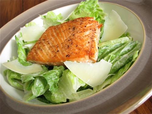 Salmon Caesar Salad  Salmon Caesar Salad