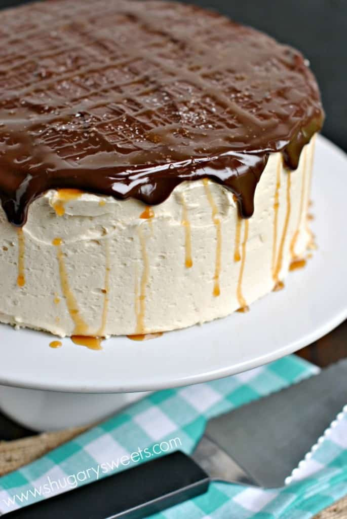 Salted Caramel Chocolate Cake  Salted Caramel Chocolate Cheesecake Cake Shugary Sweets