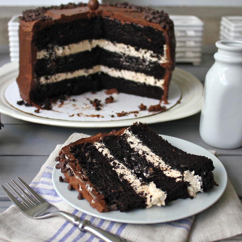 Salted Caramel Chocolate Cake  Dark Chocolate Salted Caramel Layer Cake