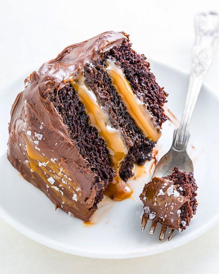 Salted Caramel Chocolate Cake  Chocolate And Salted Caramel Layer Cake recipe