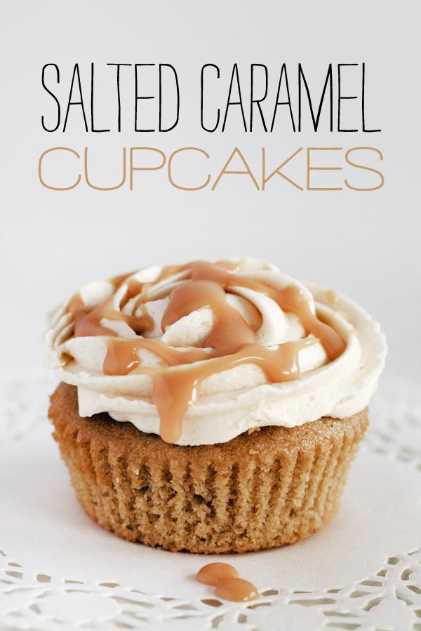 Salted Caramel Cupcakes  Triple Salted Caramel Cupcakes Love Swah