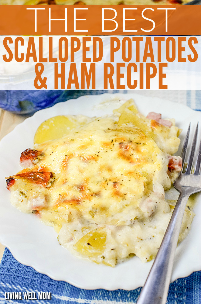 Scalloped Potatoes And Ham With Cream Of Mushroom Soup  creamy scalloped potatoes and ham recipe