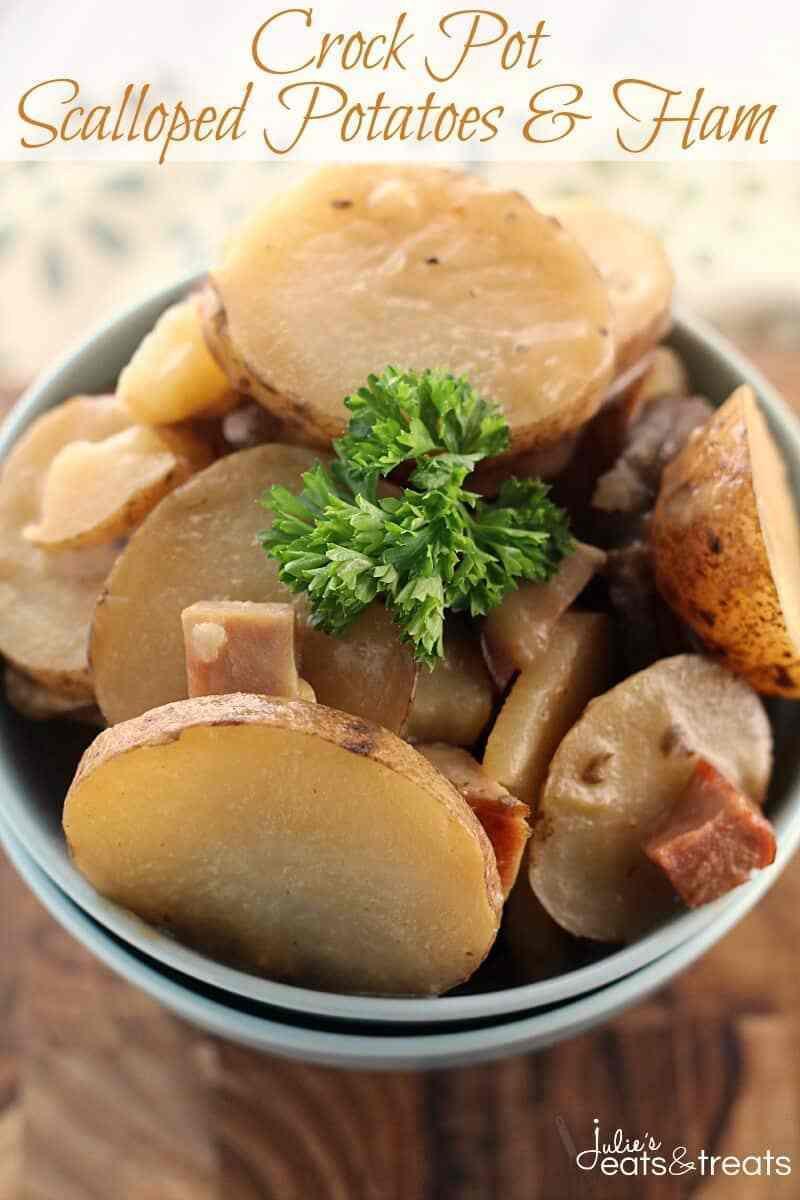 Scalloped Potatoes In Crock Pot  Crock Pot Scalloped Potatoes & Ham Julie s Eats & Treats