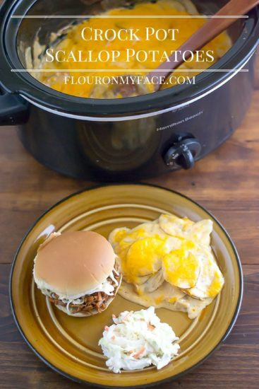 Scalloped Potatoes In Crock Pot  Crock Pot Scalloped Potatoes Flour My Face