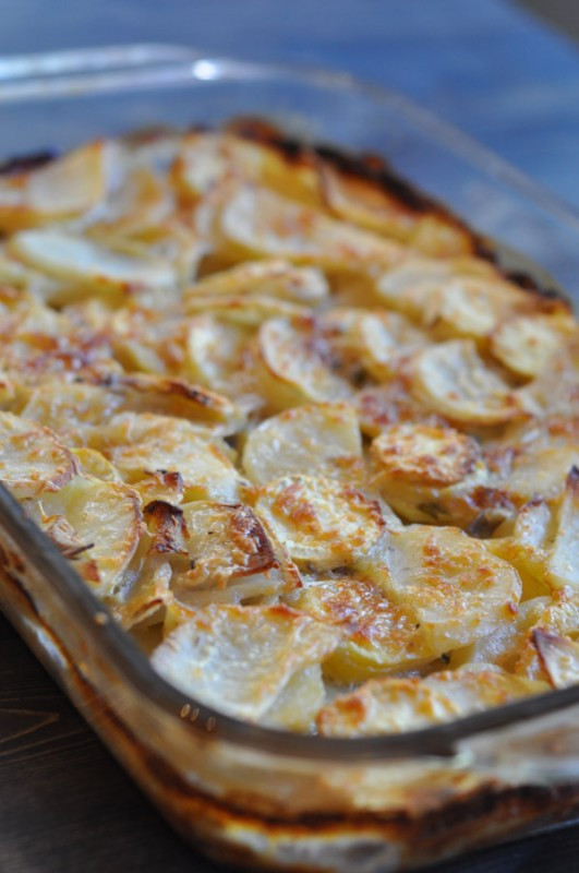 Scalloped Potatoes With Cream Of Mushroom Soup  fort Food Thy Name is Scalloped Sweet Potatoes Suburble