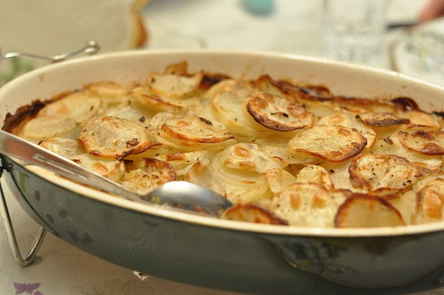 Scalloped Potatoes With Cream Of Mushroom Soup  Scalloped Potatoes made with cream of mushroom soup