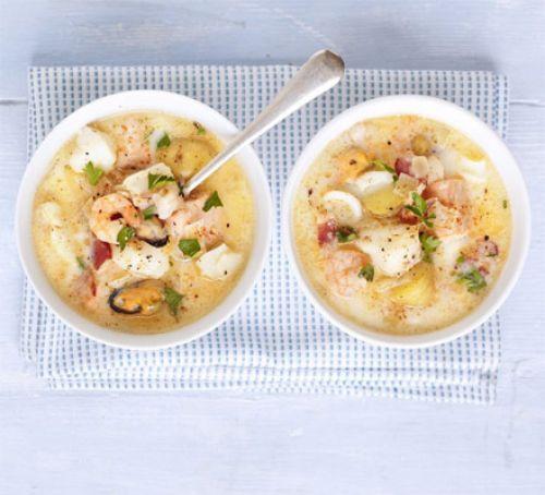 Seafood Chowder Recipes  Simple seafood chowder recipe