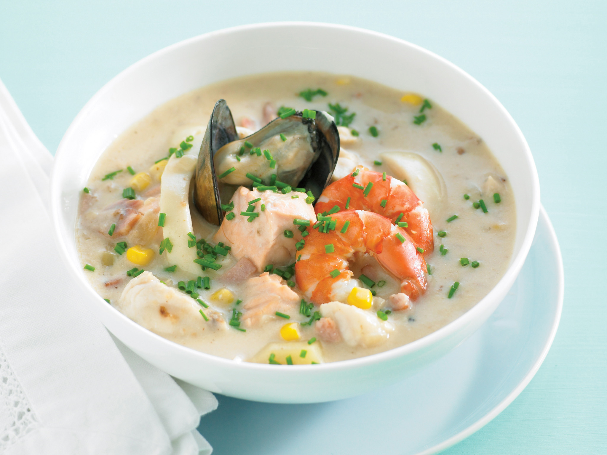 Seafood Chowder Recipes  what s in seafood chowder