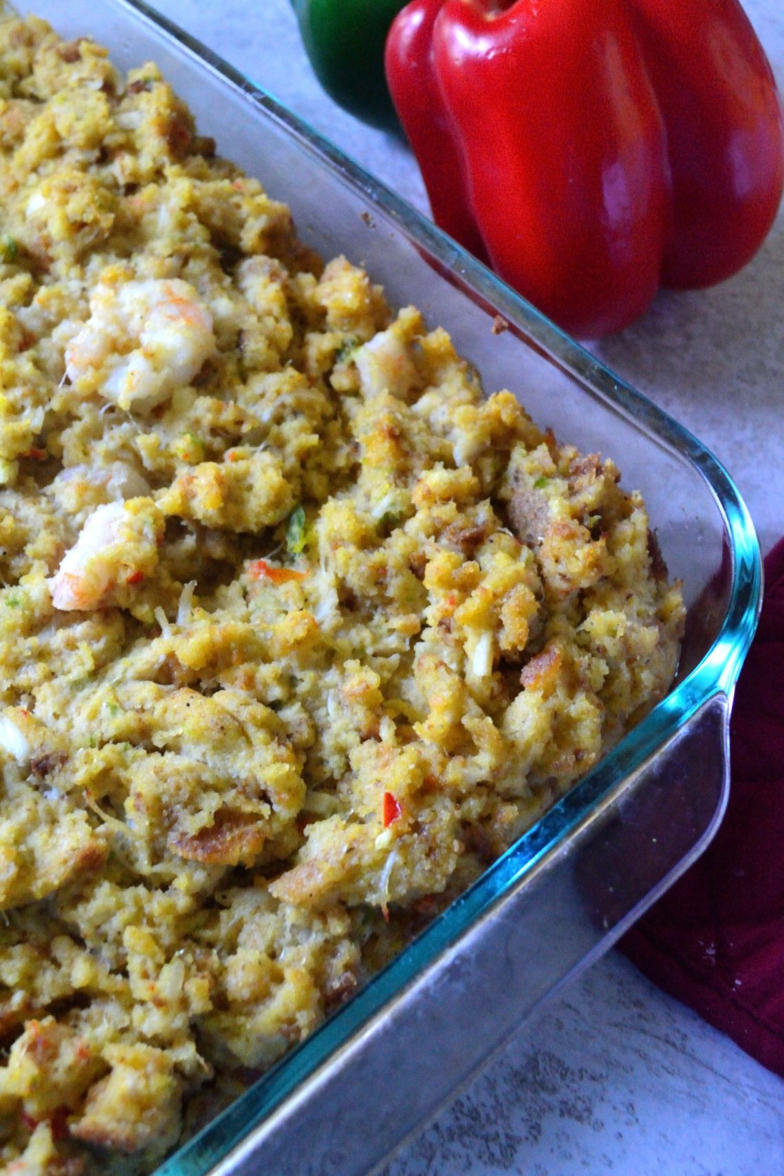 Seafood Cornbread Dressing  Seafood Cornbread Dressing Coop Can Cook