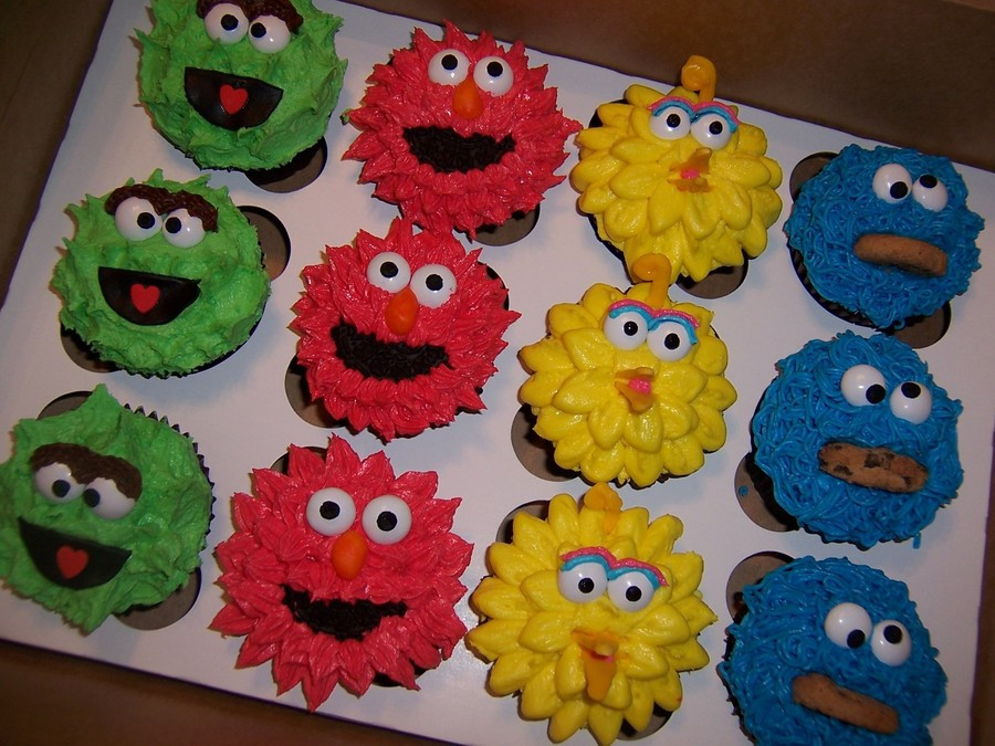 Sesame Street Cupcakes  How To Get To Sesame Street Cupcakes CakeCentral