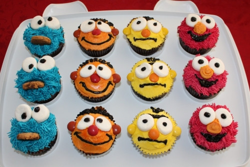 Sesame Street Cupcakes  Sesame Street Cupcakes Our Family Projects