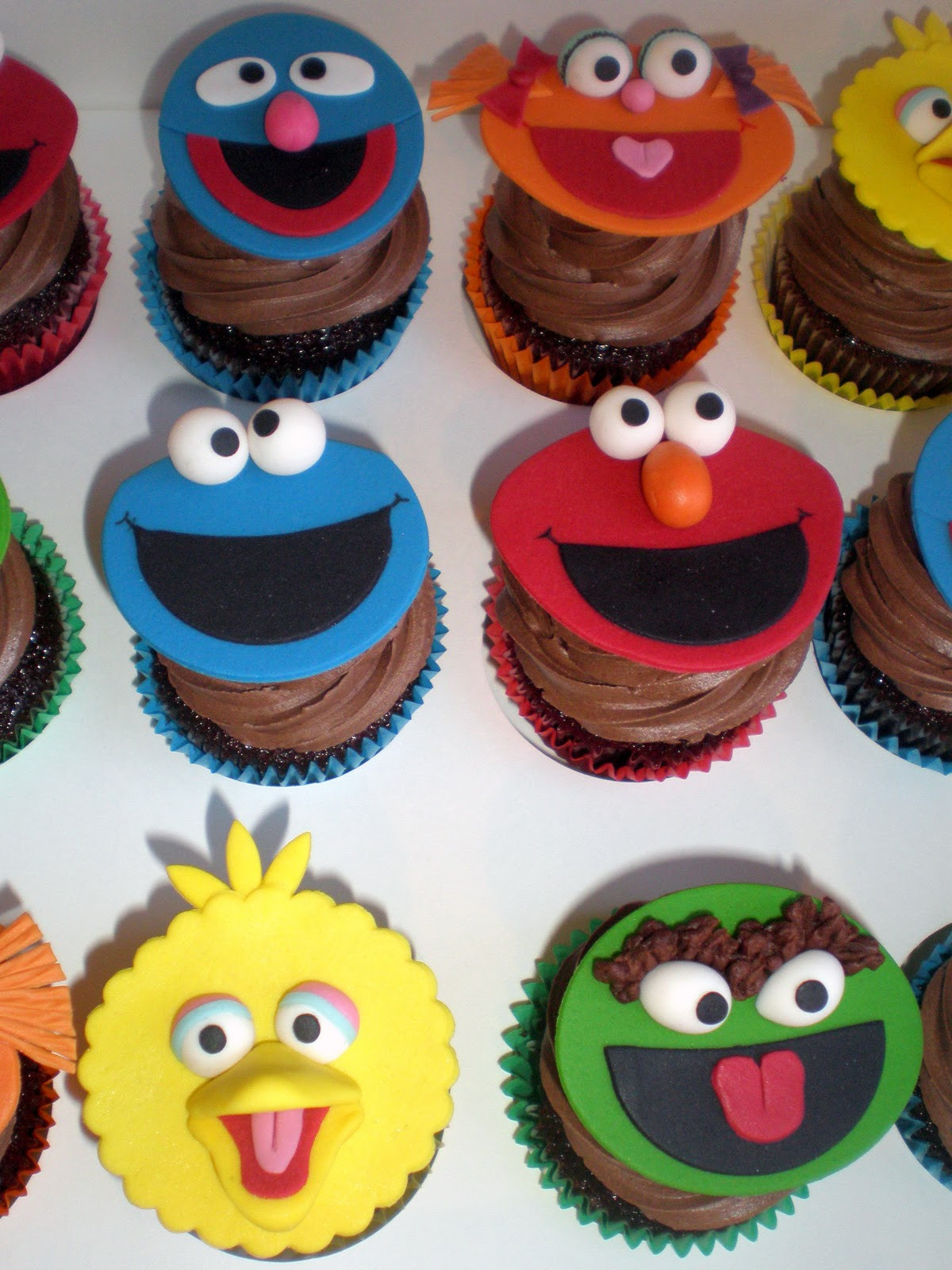 Sesame Street Cupcakes  Sugar Siren Cakes Mackay Sesame Street Birthday Cake