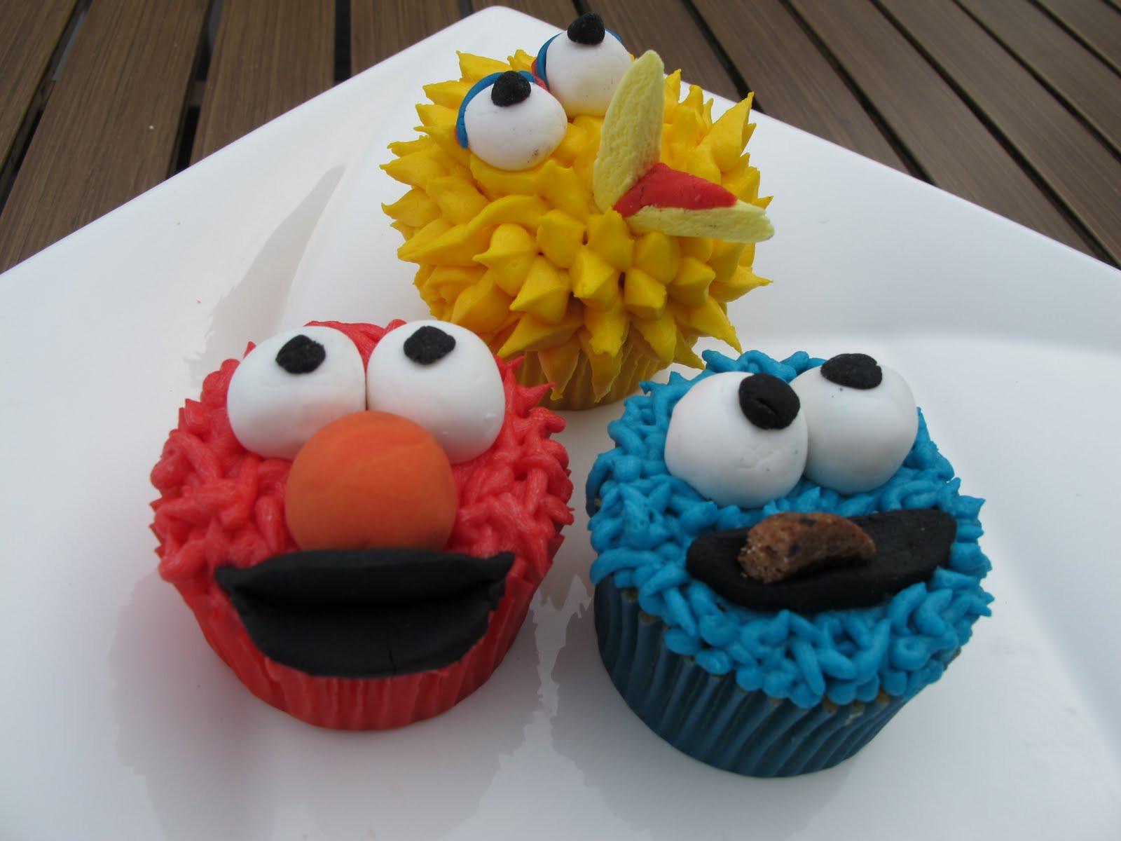 Sesame Street Cupcakes  Eat me Sesame Street Cupcakes