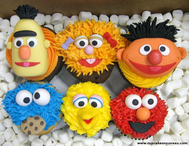 Sesame Street Cupcakes  Best Sesame Street cakes and cupcakes