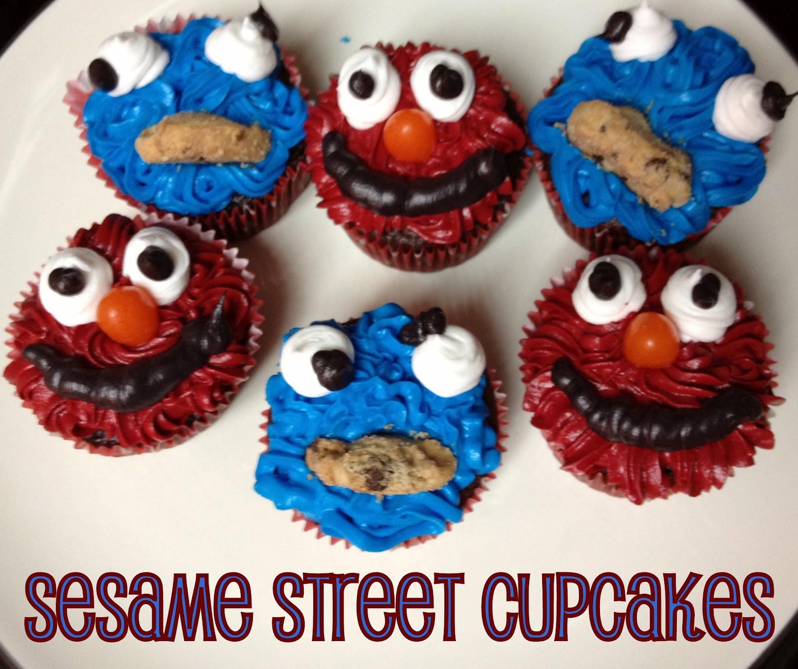 Sesame Street Cupcakes  Snips & Spice Sesame Street Cupcakes