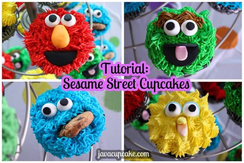 Sesame Street Cupcakes  Tutorial Sesame Street Cupcakes JavaCupcake