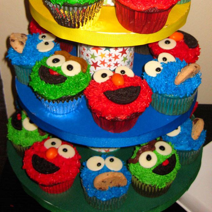 Sesame Street Cupcakes  Sesame Street Cupcakes Two Sisters