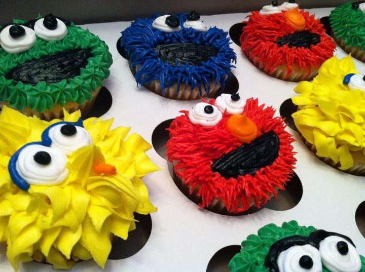 Sesame Street Cupcakes  Sweet Treats by Susan Sesame Street Cupcakes