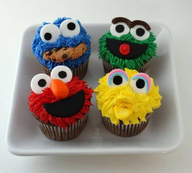 Sesame Street Cupcakes  23 Sensational Sesame Street Party Ideas Spaceships and