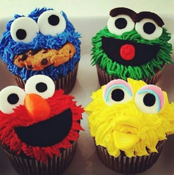 Sesame Street Cupcakes  50 of the Cutest Cupcakes You ll Ever See Food