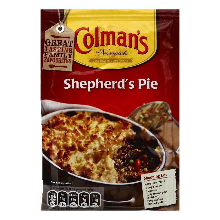 Shepherd'S Pie Recipes  Colmans Recipe Mix Shepherd s Pie