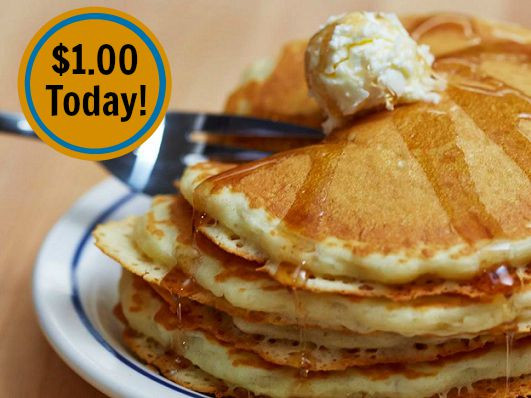 Short Stack Pancakes  $1 00 Short Stack Pancakes at IHOP Today ONLY