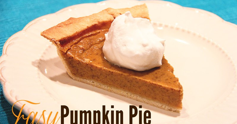 Should Pumpkin Pie Be Refrigerated  Lovely Little Snippets Easy Pumpkin Pie