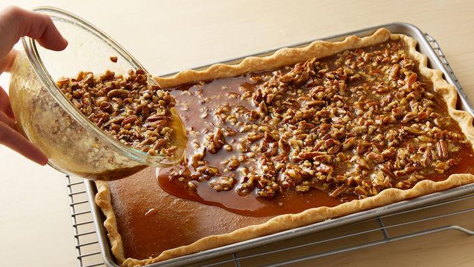 Should Pumpkin Pie Be Refrigerated  Pumpkin Pecan Slab Pie Recipe Pillsbury