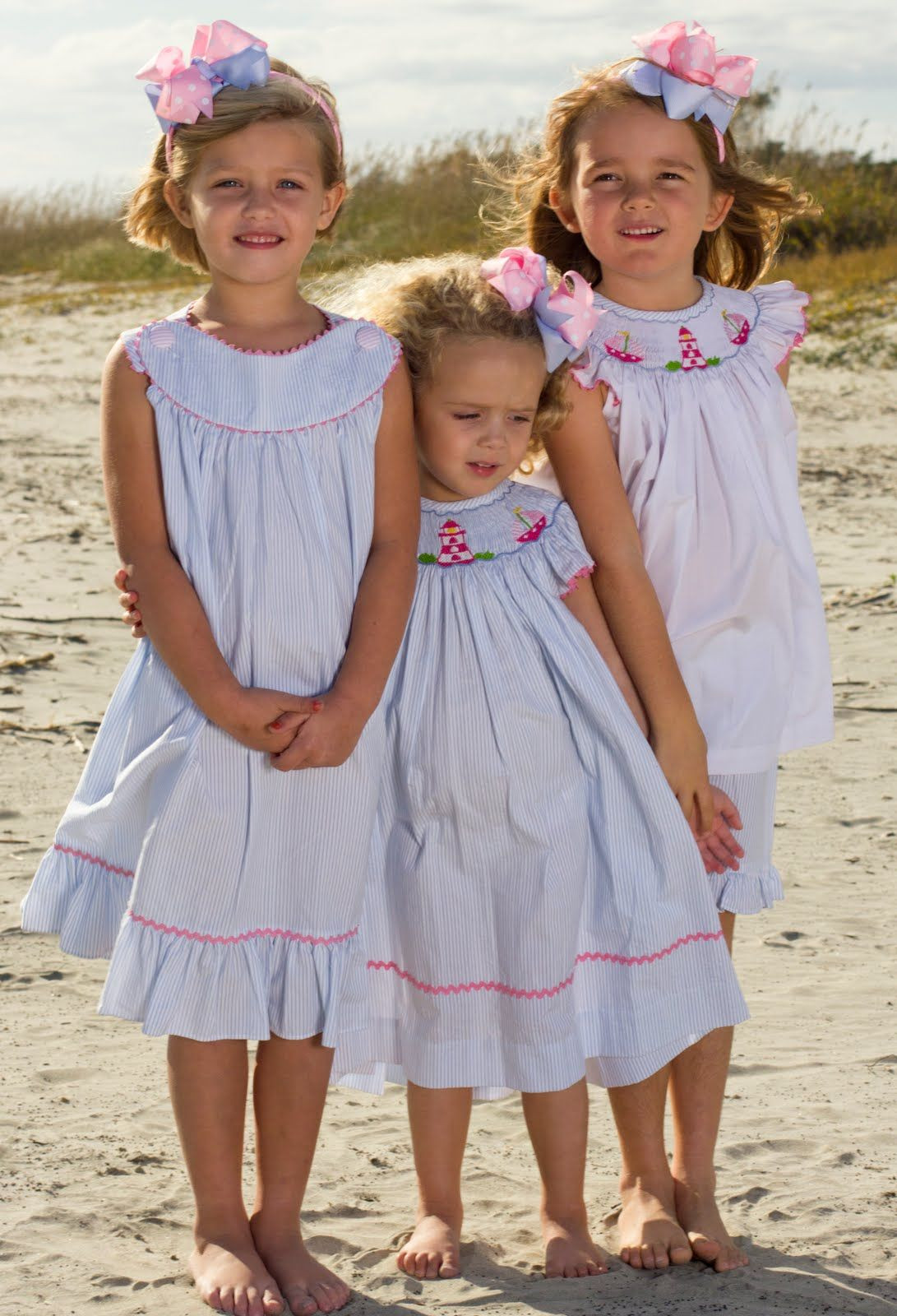 Shrimp And Grits Clothing  smocked sailboats and lighthouses so cute for spring