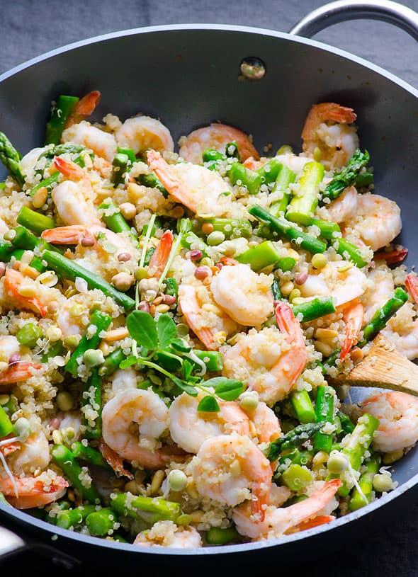 Shrimp And Quinoa  Garlic Butter Shrimp Quinoa and Asparagus iFOODreal