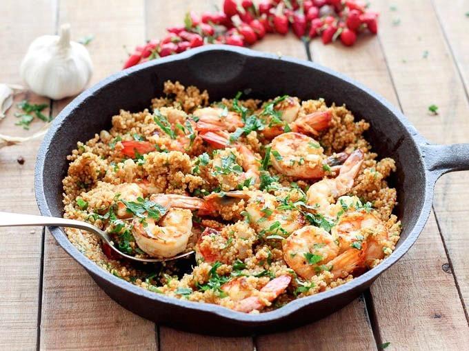 Shrimp And Quinoa  Garlic Shrimp and Quinoa As Easy As Apple Pie