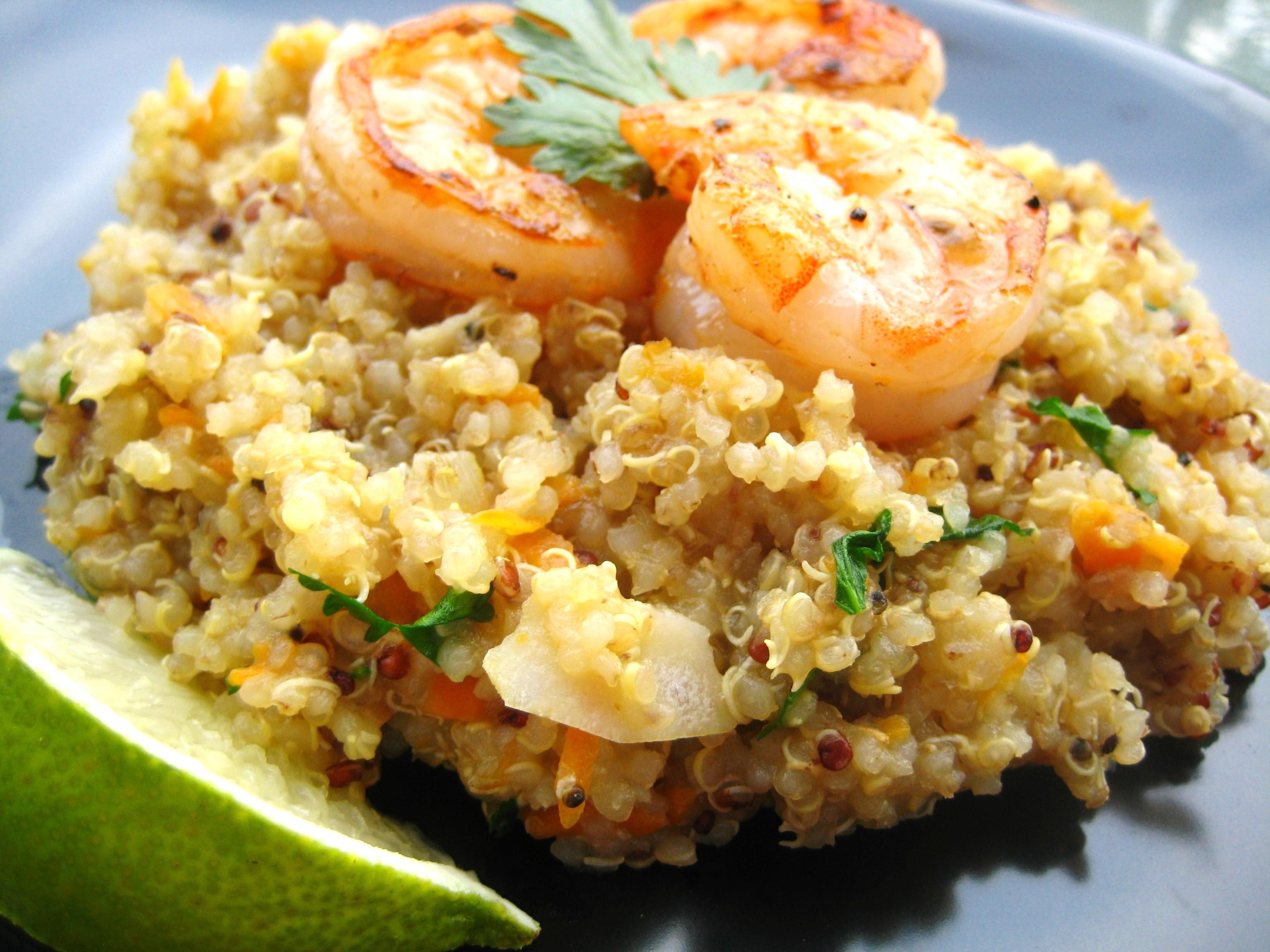 Shrimp And Quinoa  Shrimp Quinoa Recipe — Dishmaps