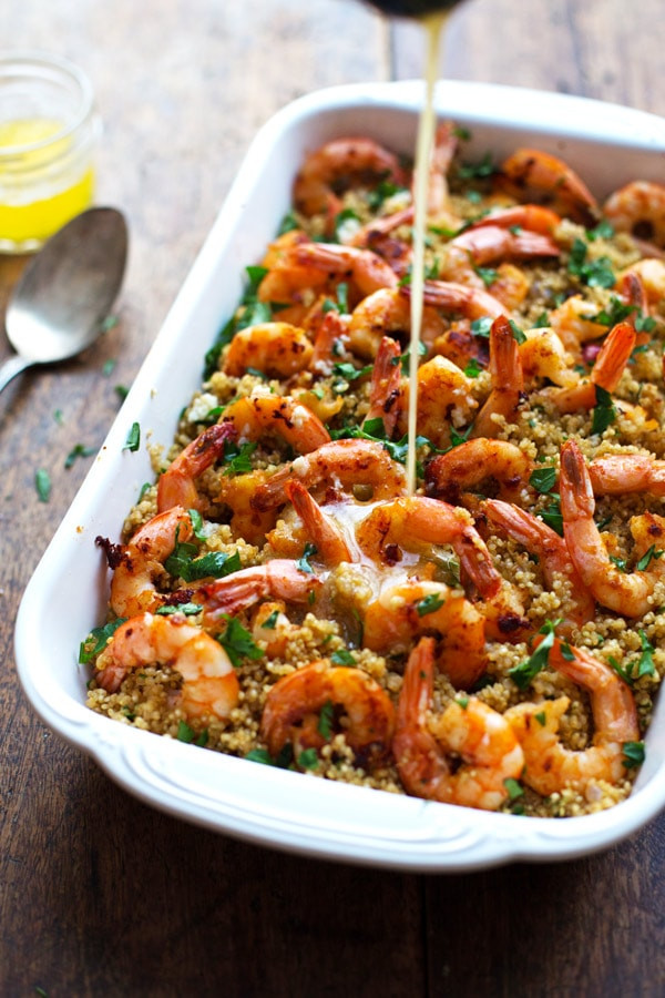 Shrimp And Quinoa  Garlic Butter Shrimp and Quinoa Recipe Pinch of Yum