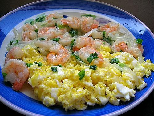 Shrimp Breakfast Recipes  shrimp scrambled eggs