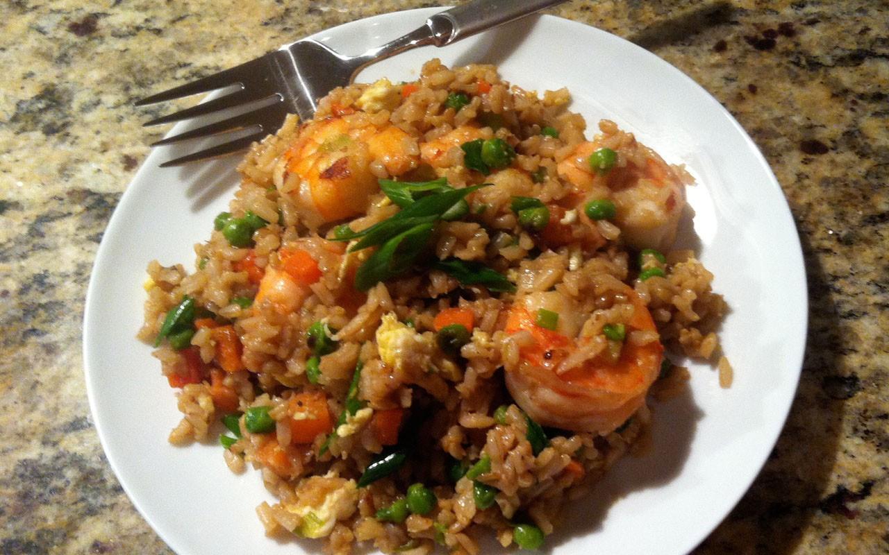 Shrimp Fried Rice  [RECIPE] Shrimp Fried Brown Rice EBONY