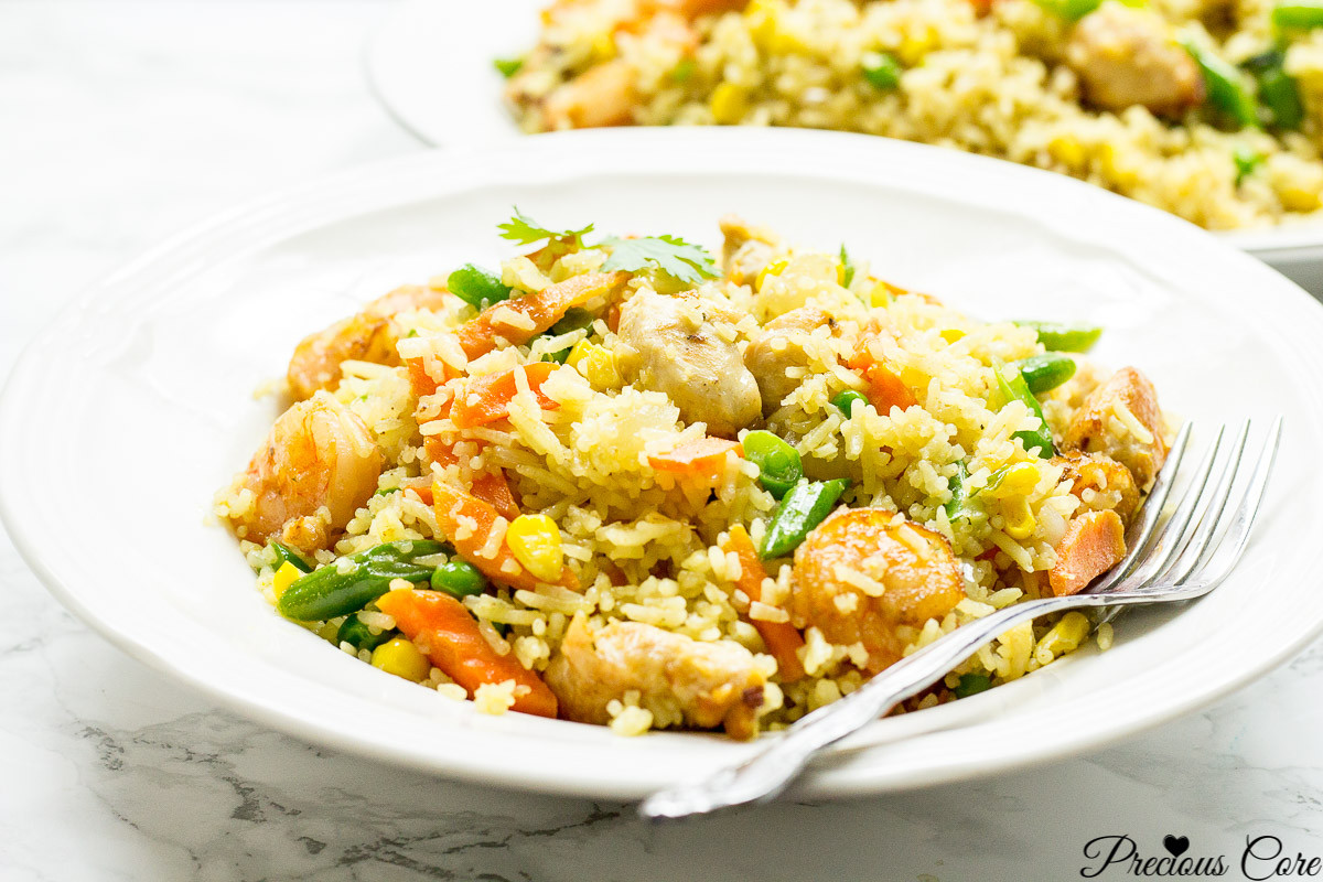 Shrimp Fried Rice  CHICKEN AND SHRIMP FRIED RICE AFRICAN STYLE