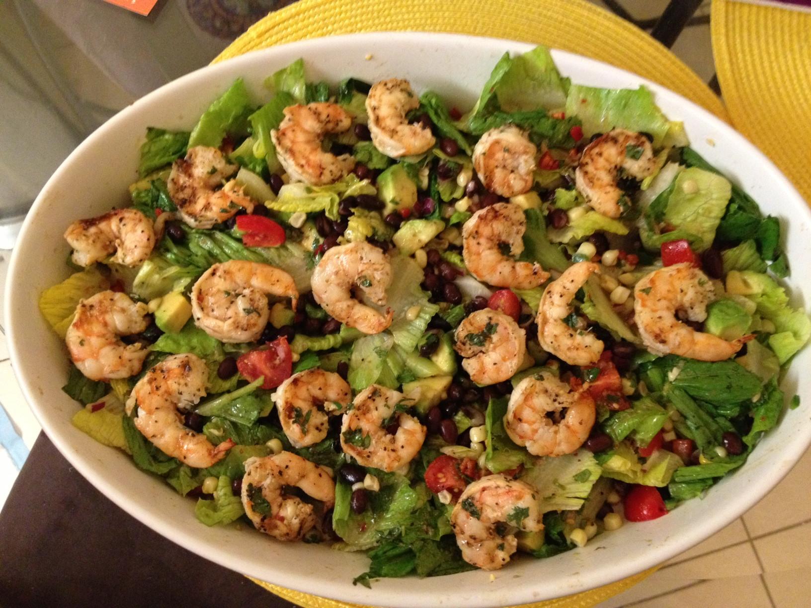 Shrimp Salad Dressings  Grilled Shrimp Corn & Avocado Salad with Cilantro