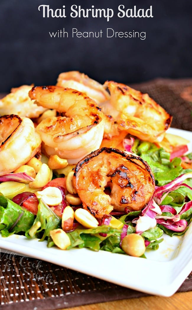 Shrimp Salad Dressings  Thai Shrimp Salad with Peanut Dressing Will Cook For Smiles