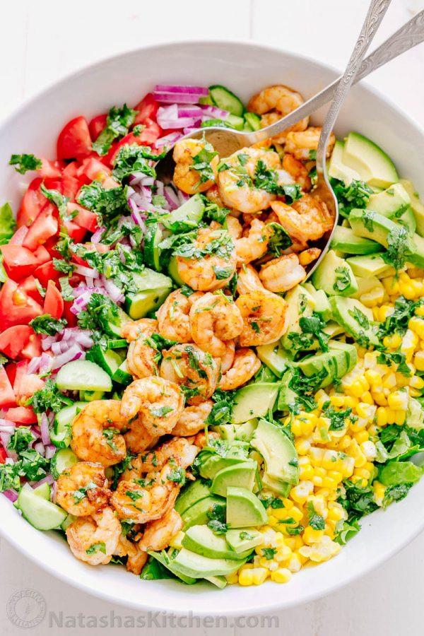 Shrimp Salad Dressings  Shrimp Avocado Salad Recipe NatashasKitchen
