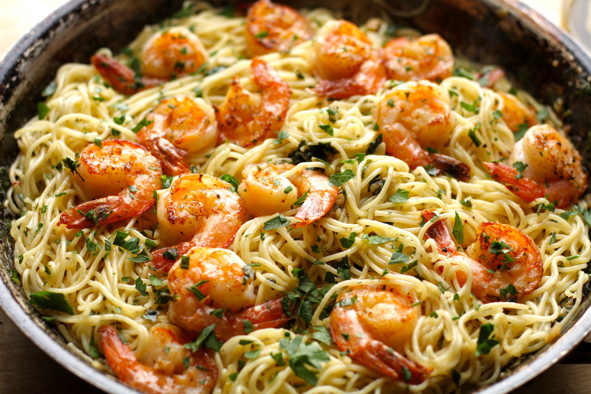 Shrimp Scampi Pasta  Shrimp Scampi with Pasta Recipe