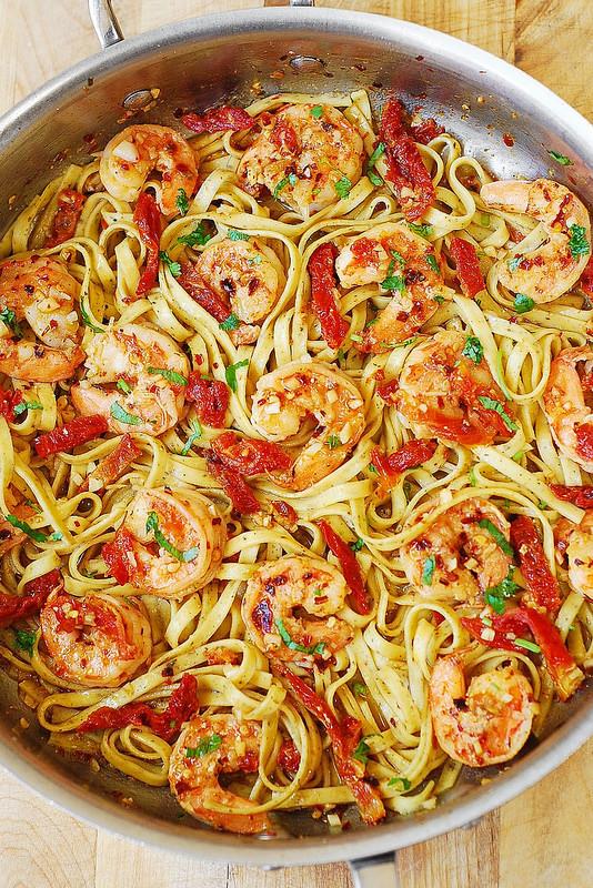 Shrimp Scampi Pasta  Shrimp Scampi Pasta with Sun Dried Tomatoes Julia s Album