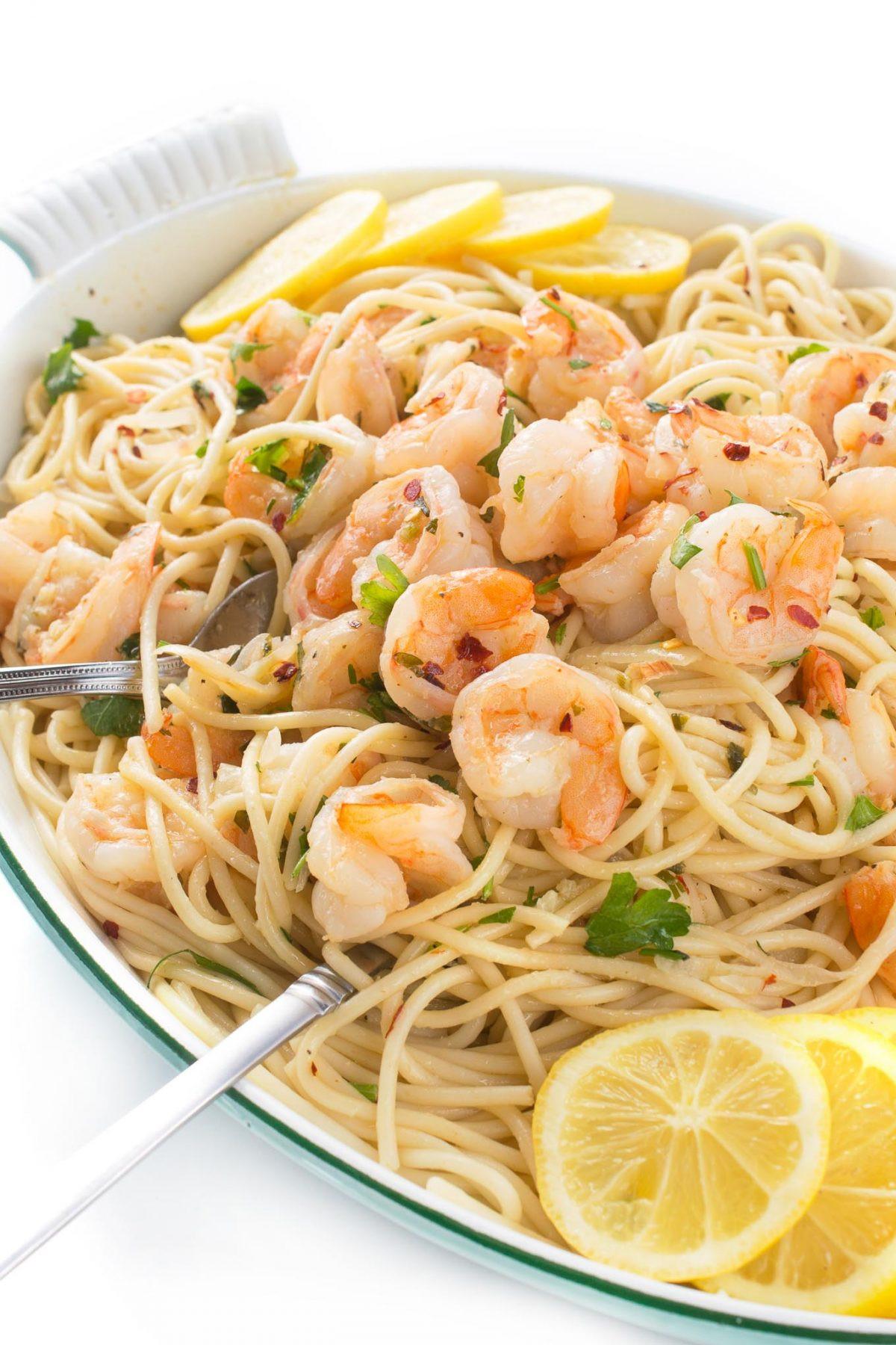 Shrimp Scampi Pasta  Shrimp Scampi with Pasta or Zoodles