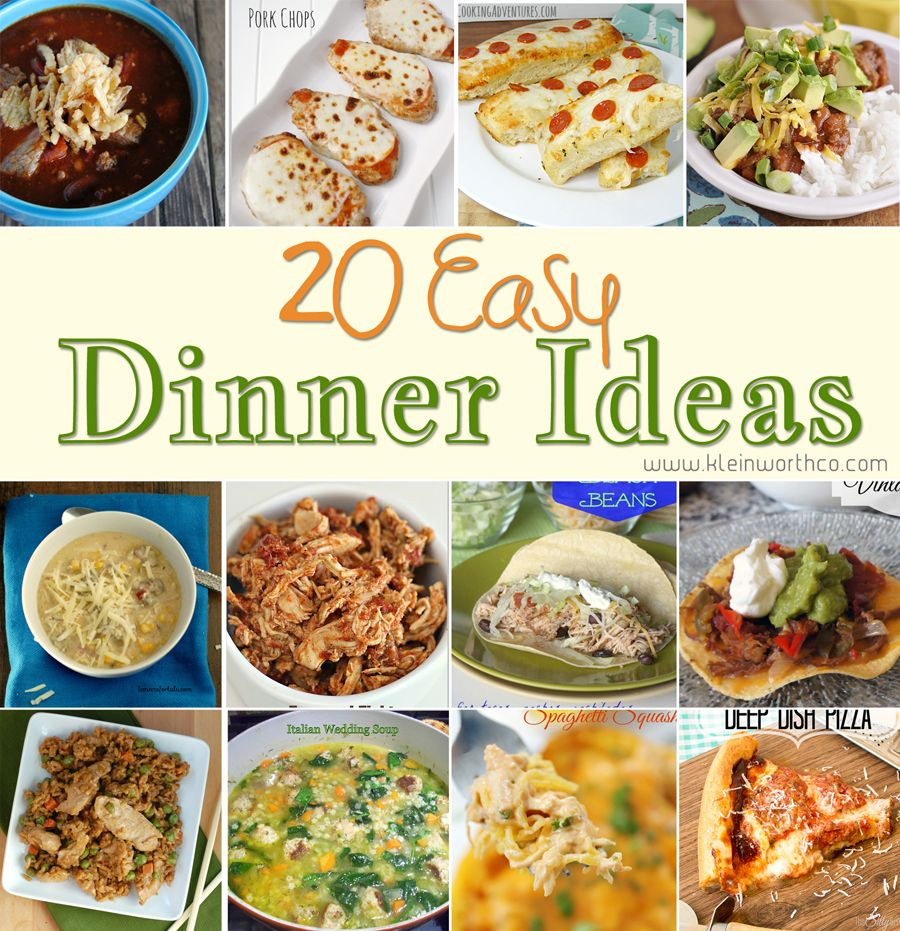 Simple Family Dinners  20 Easy Dinner Ideas Savory Dishes Pinterest