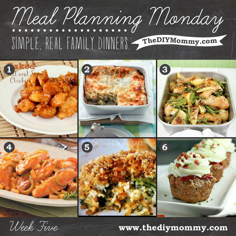 Simple Family Dinners  Meal Planning Monday Week 5 – Simple Real Family Dinners