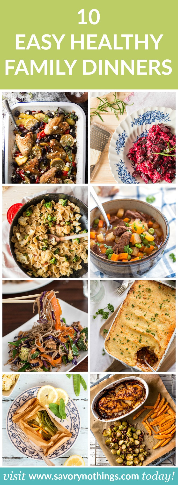 Simple Family Dinners  10 Healthy Family Dinners Easy Recipes for Busy Weeknights
