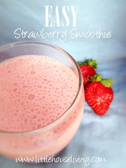 Simple Smoothie Recipes  Strawberry smoothie recipes Smoothies and Vanilla on