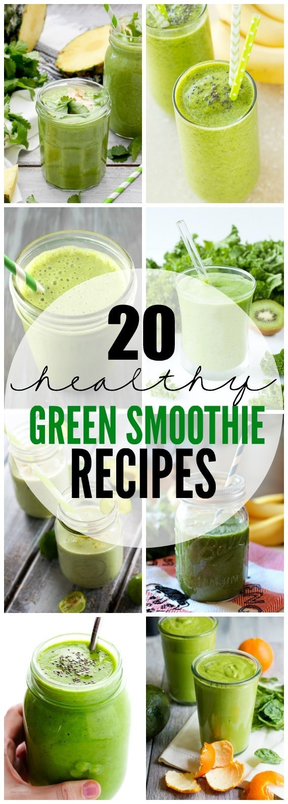 Simple Smoothie Recipes  20 Healthy Green Smoothie Recipes Yummy Healthy Easy