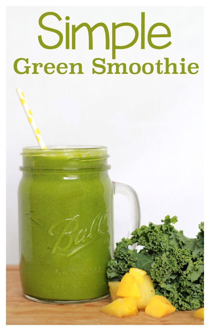 Simple Smoothie Recipes  Simple Green Smoothie Recipe Yummy and easy