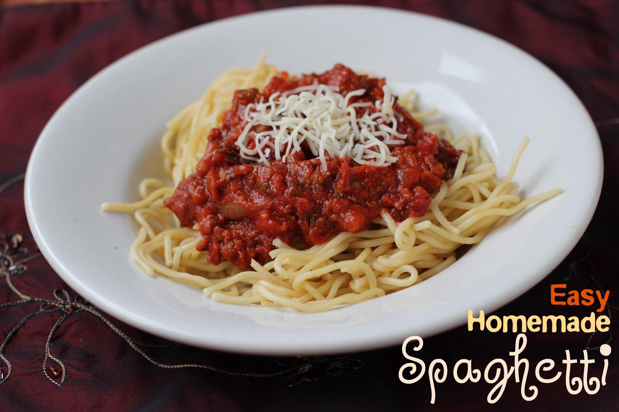Simple Spaghetti Sauce Recipe  Easy Homemade Spaghetti Sauce Great for the Freezer